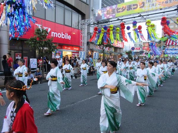 七夕祭り(民謡パレード)